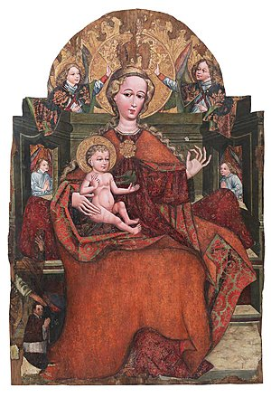 Medieval Madonna with Wild Strawberry from the Żywiec Municipal Museum