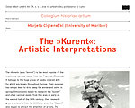 Lecture by Marjeta Ciglenečki (University of Maribor): The »Kurent«: Artistic Interpretations