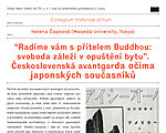 Lecture by Capkova: Czechoslovak avant-garde Japanese contemporaries eyes