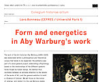 Form and Energetics in Aby Warburg's Work